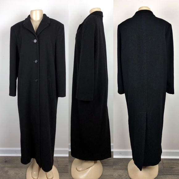 Marvin Richards Jackets & Blazers - Marvin Richards Black Cashmere Peacoat/ Trench